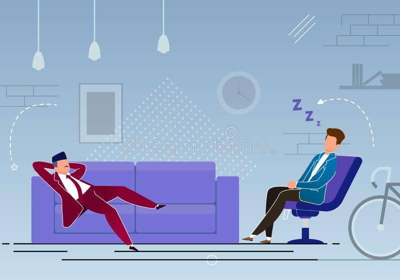 Контроль времени, перерыв в мультфильме работы, плоско бесплатная иллюстрация