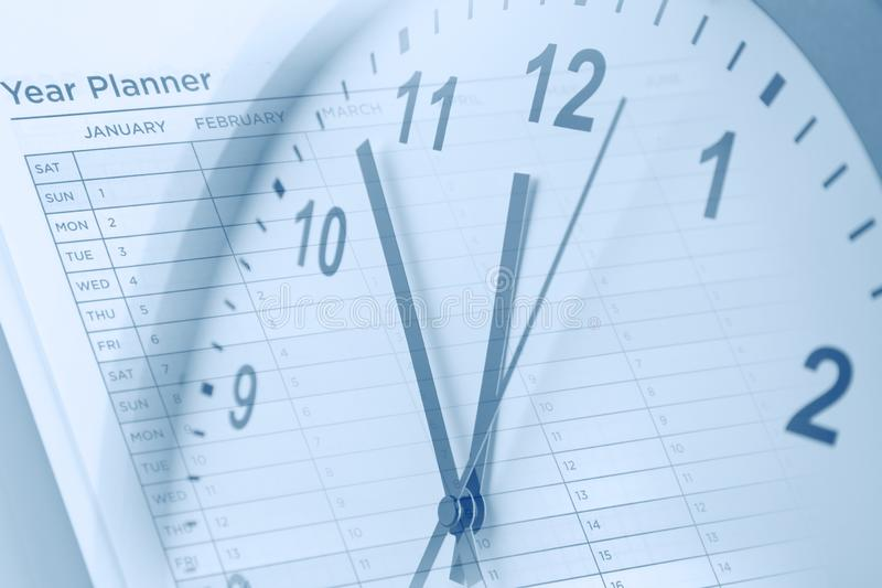 Контроль времени Плановик года стоковая фотография