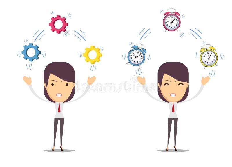 Контроль времени, управление иллюстрация штока