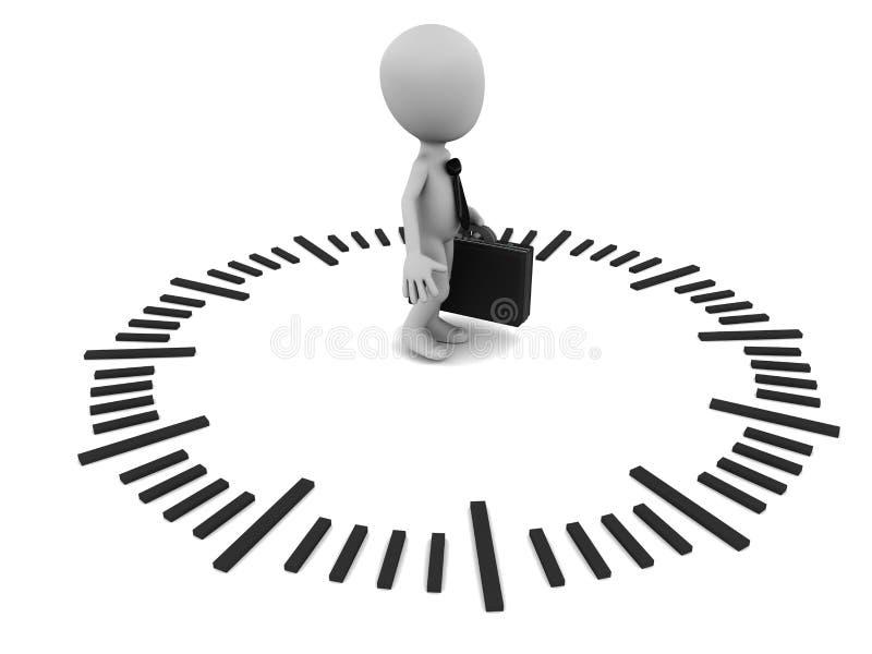 Контроль времени иллюстрация вектора