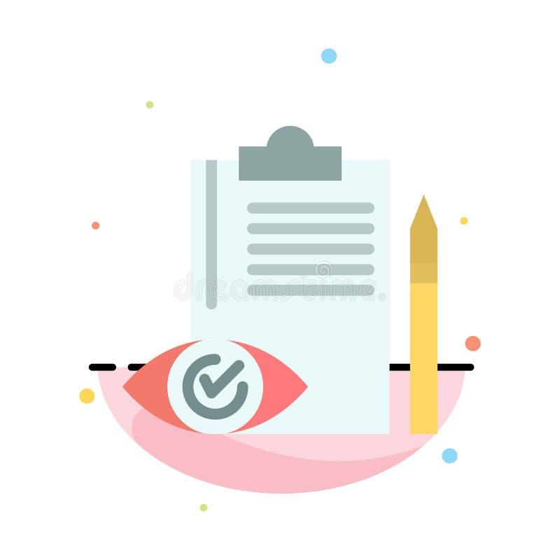 Контроль качества, Backlog, Checklist, Control, Plan Abstract Flat Color Icon Template иллюстрация вектора