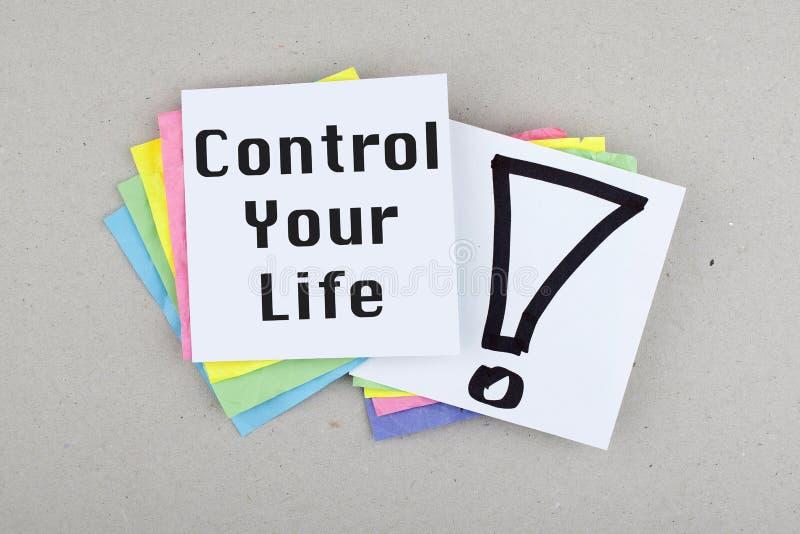 Контролируйте вашу жизнь стоковые фотографии rf