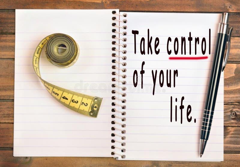 контролируйте жизнь примите ваше стоковое фото rf