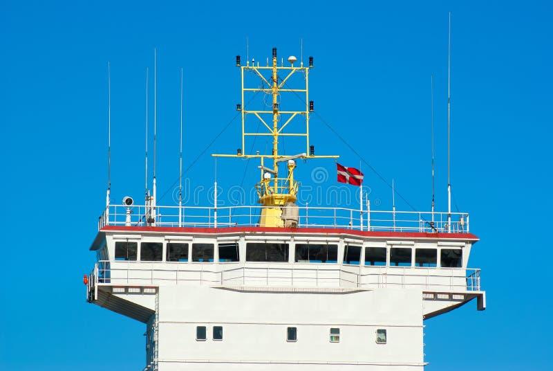 Контролируйте мост корабля стоковые изображения rf