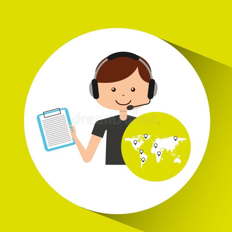 Контрольный список поддержки центра телефонного обслуживания логистический иллюстрация штока