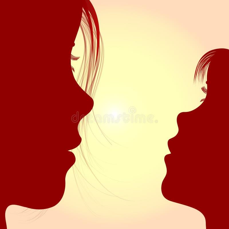контурит женщину девушки иллюстрация штока