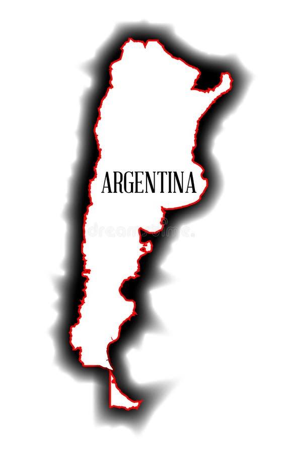 Контурная карта Аргентины бесплатная иллюстрация