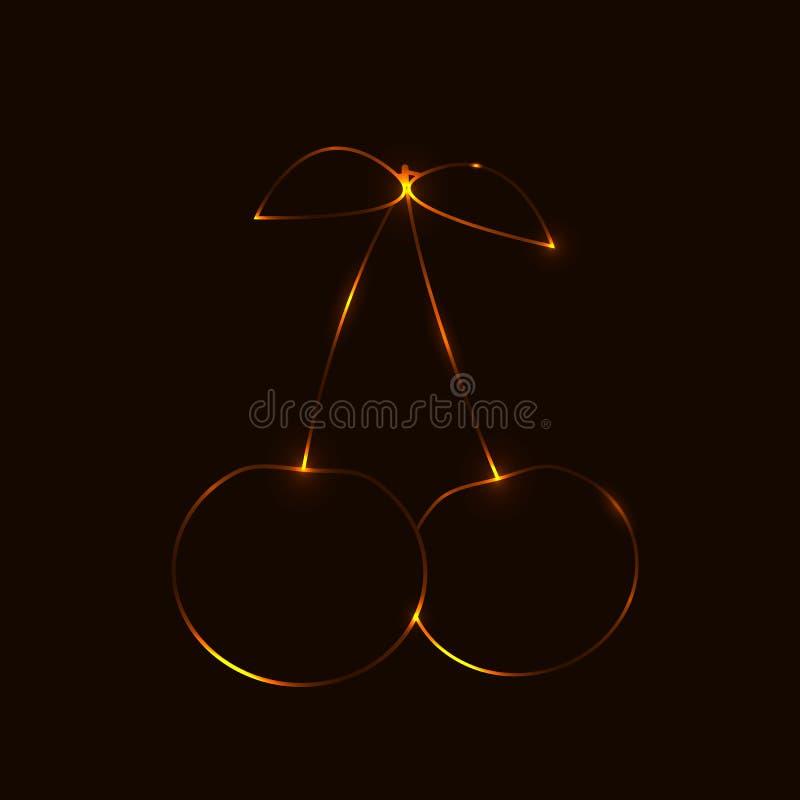 Контур вишни стоковая фотография rf