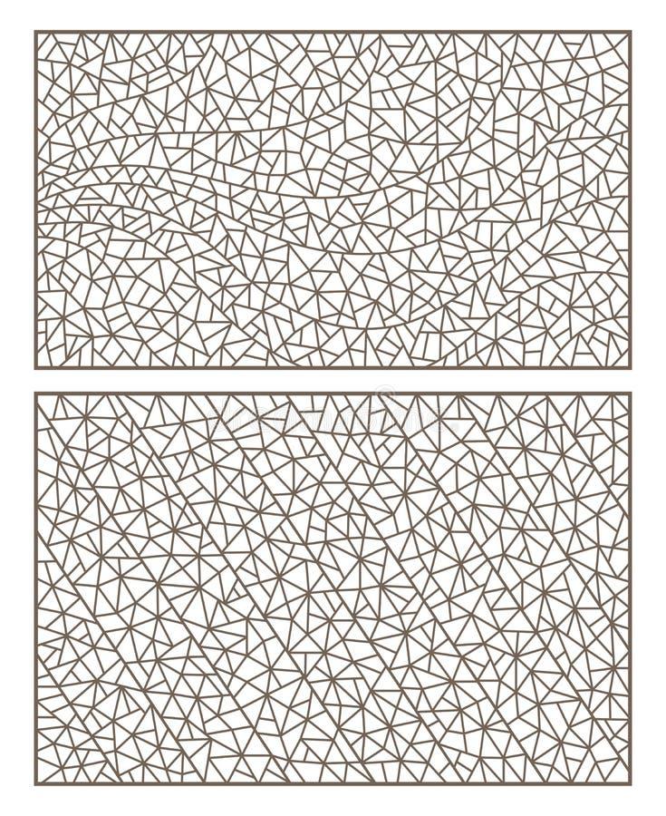 Контур установил с цветным стеклом абстрактного контура предпосылок, имитацией точно сломанного стекла иллюстрация вектора