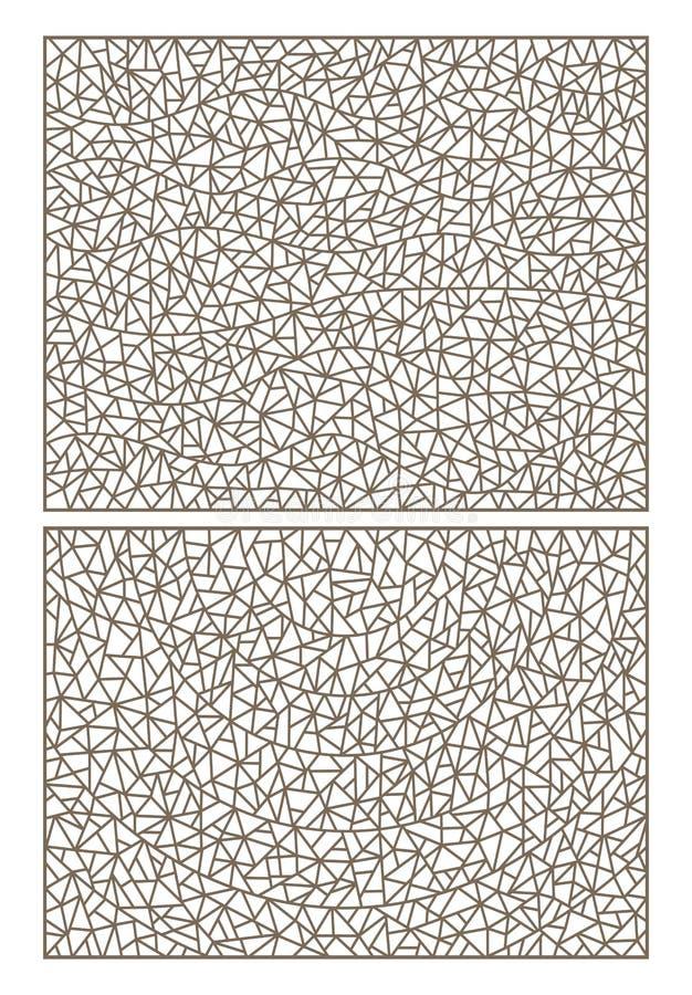 Контур установил с цветным стеклом абстрактных предпосылок, имитацией точно сломанного стекла бесплатная иллюстрация
