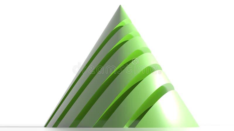 Конус логотипа зеленый иллюстрация штока