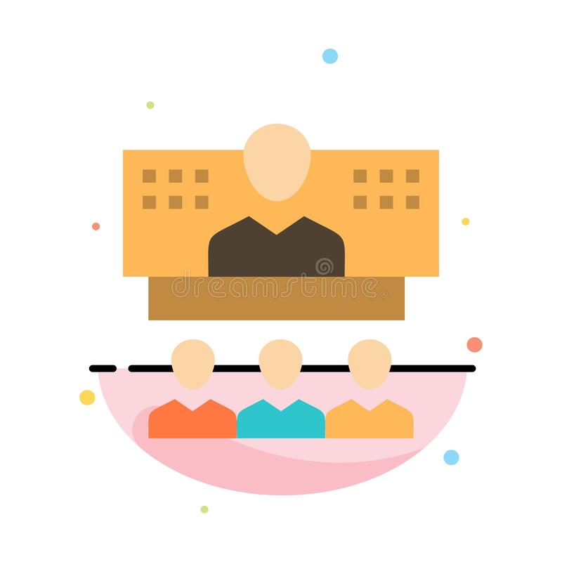 Конференция, дело, звонок, соединение, интернет, онлайн абстрактный плоский шаблон значка цвета иллюстрация штока