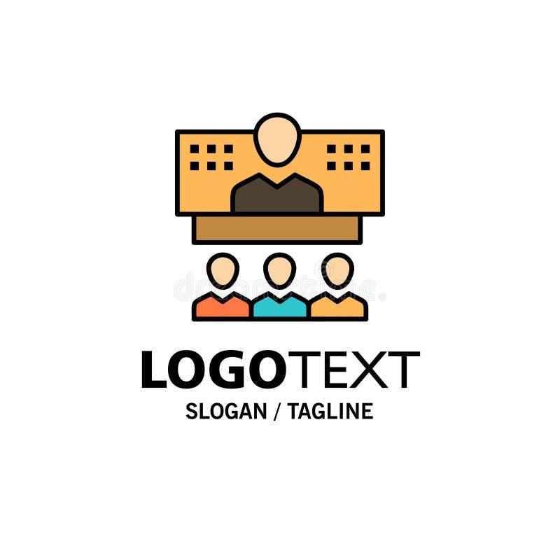 Конференция, дело, звонок, соединение, интернет, онлайн шаблон логотипа дела r иллюстрация вектора