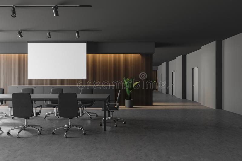 Конференц-зал дизайна Moder стильный в офисном здании Насмешка вверх по плакату бесплатная иллюстрация