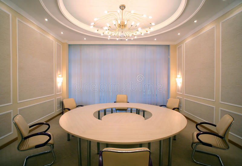 конференц-зал конференции угла пустой снятый широко стоковая фотография