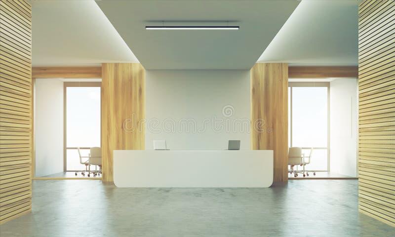 2 конференц-зала и sunlit приемная бесплатная иллюстрация