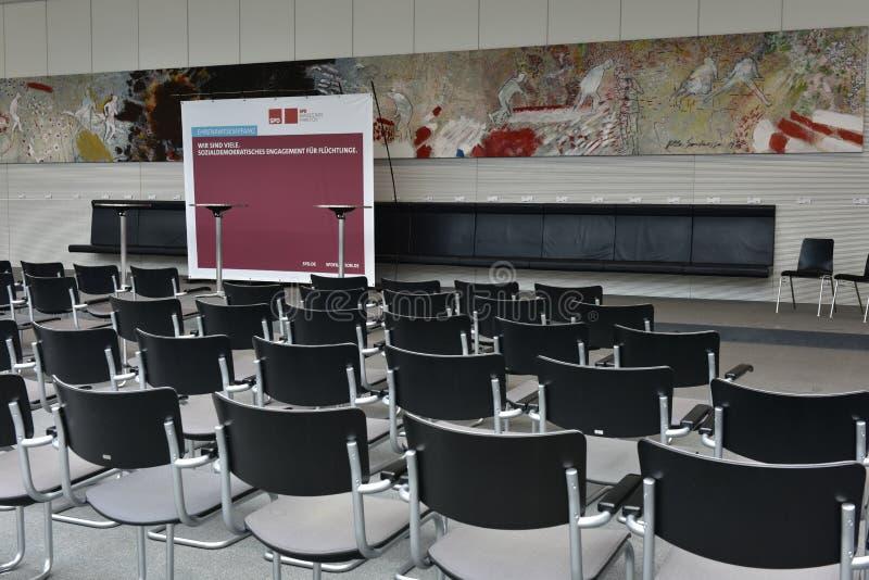 Конференц-зал парламентской фракции, Reichstag, Берлин стоковая фотография
