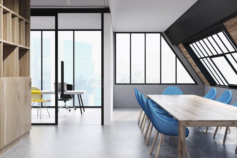 Конференц-зал чердака, голубой бесплатная иллюстрация