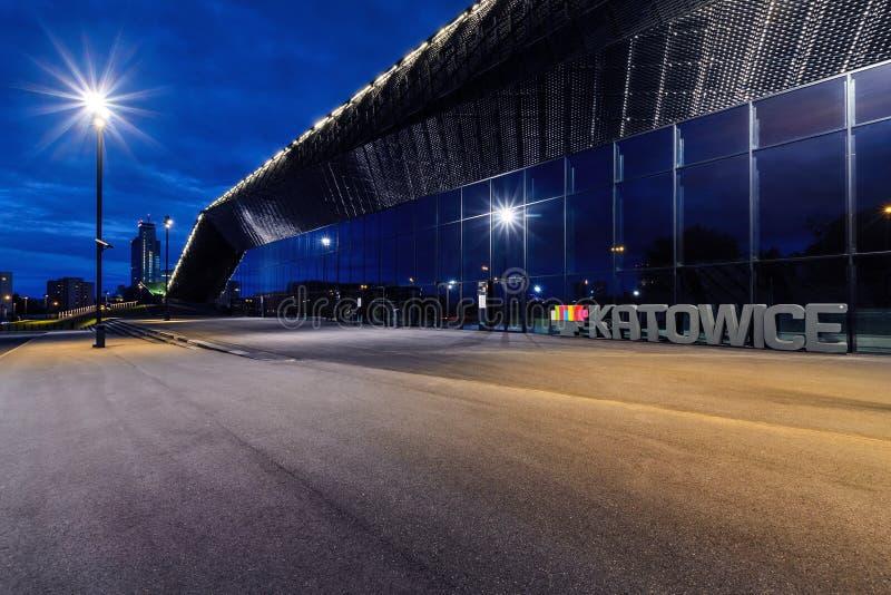 Конференц-центр международной конвенции в Катовице стоковые изображения rf