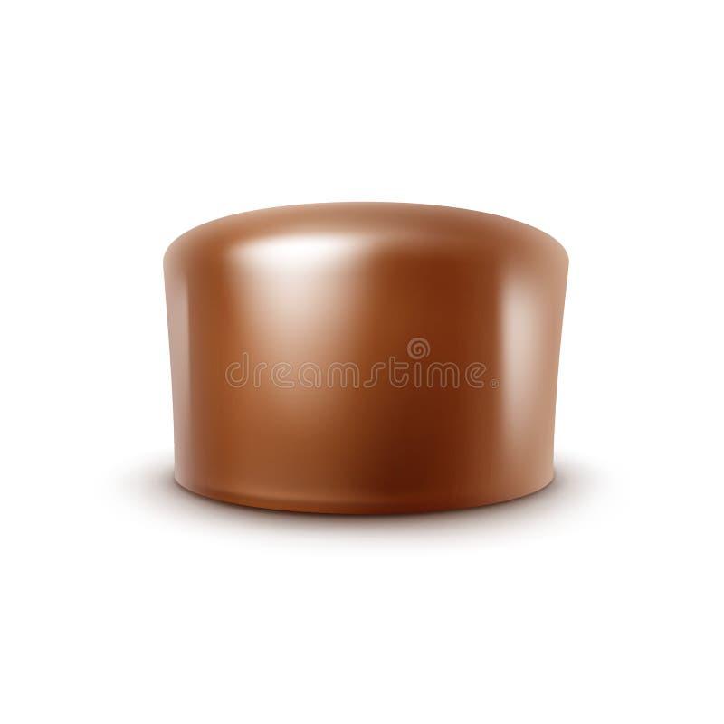Конфета молочного шоколада вектора изолированная на белой предпосылке иллюстрация вектора