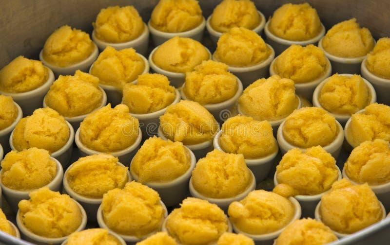 Конфета сахара ингридиент десерта ладонь toddy (плодоовощ) и мука стоковые фото