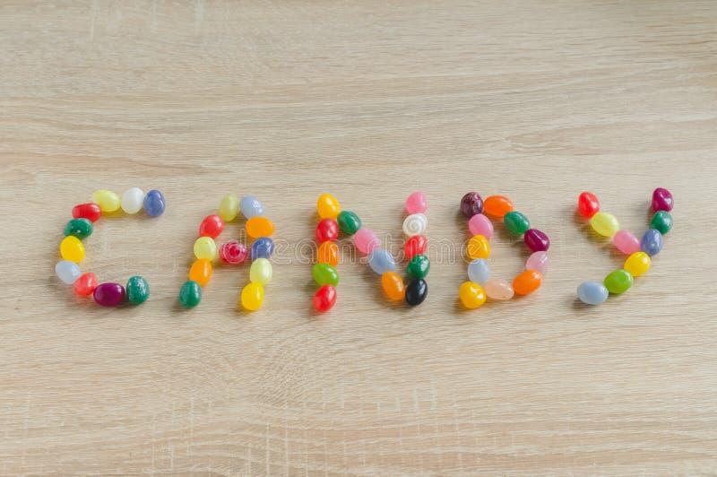 Конфета слова от желейных бобов стоковое изображение rf