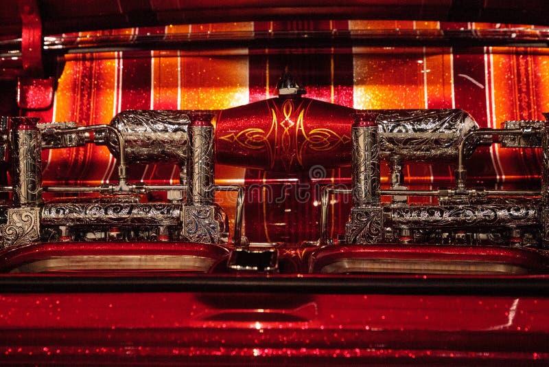 Конфета El Rey покрасила лоурайдер Chevrolet Impala 1963 Al художника стоковое изображение rf