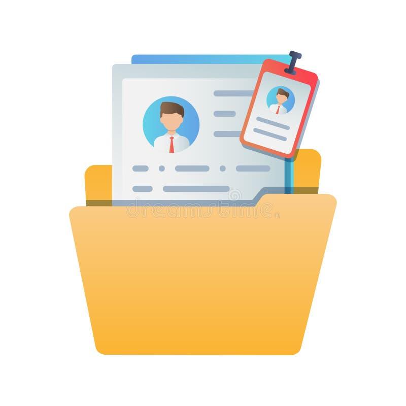 Конфиденциальная информация работника Иллюстрация вектора цвета плоская Интернет-страница концепции, знамя, представление, социал бесплатная иллюстрация