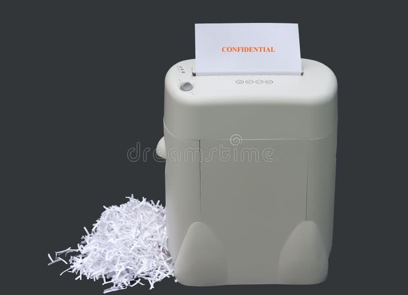 конфиденциальная информация shredding стоковое фото