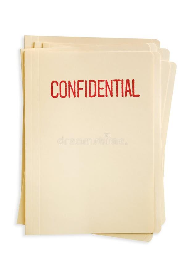 конфиденциальные архивы стоковое изображение rf