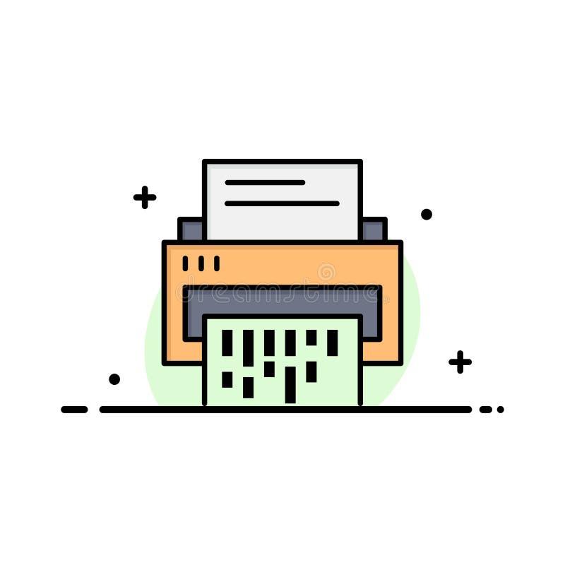 Конфиденциальный, данные, удаление, документ, файл, информация, линия дела шредера плоская заполнил шаблон знамени вектора значка бесплатная иллюстрация