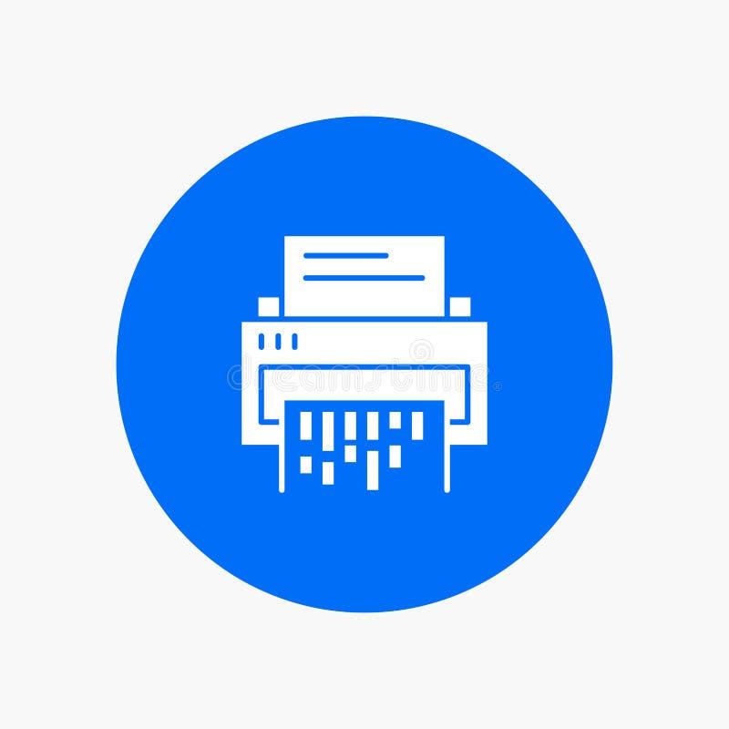 Конфиденциальный, данные, удаление, документ, файл, информация, шредер иллюстрация штока