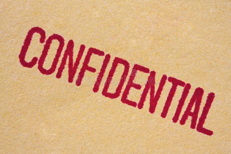 конфиденциальный штемпель стоковая фотография