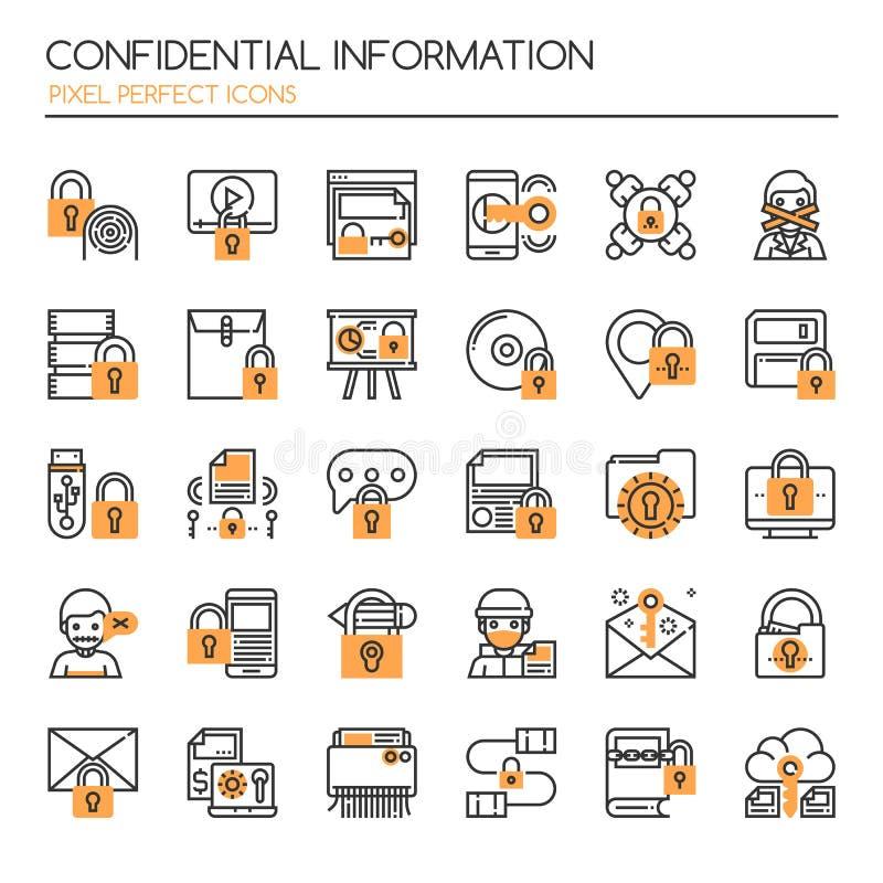 конфиденциальная информация иллюстрация штока
