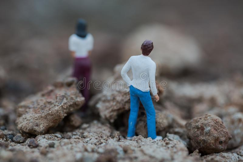 Конфликт между парой стоковое изображение