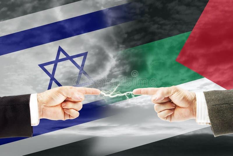 Конфронтация и вражда между Израилем и Палестиной стоковое фото rf