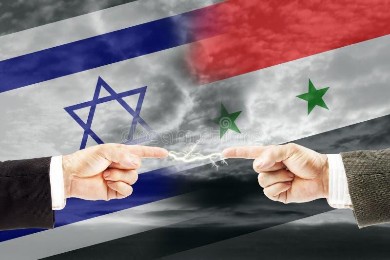 Конфронтация и вражда между Израилем и Сирией стоковое изображение rf