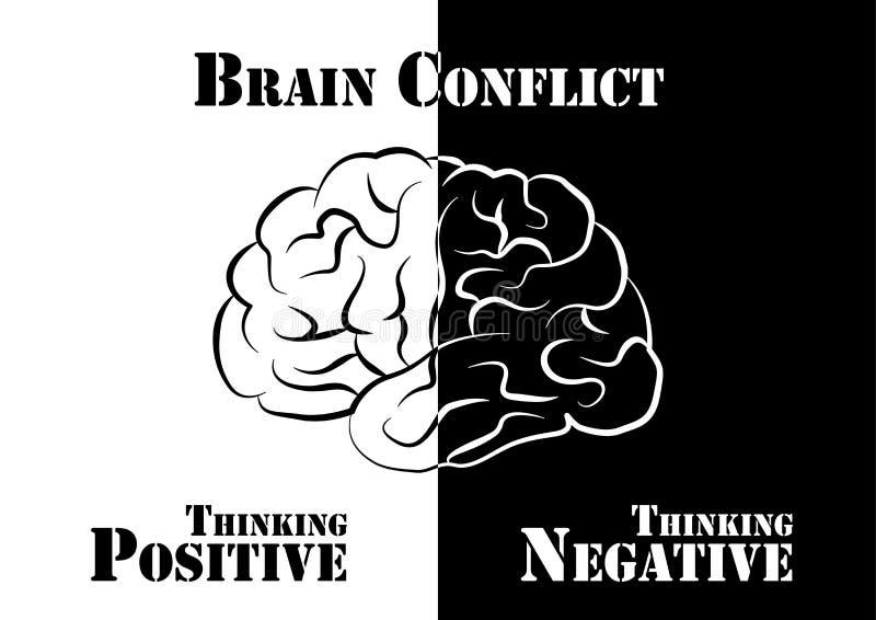 Конфликт мозга иллюстрация вектора