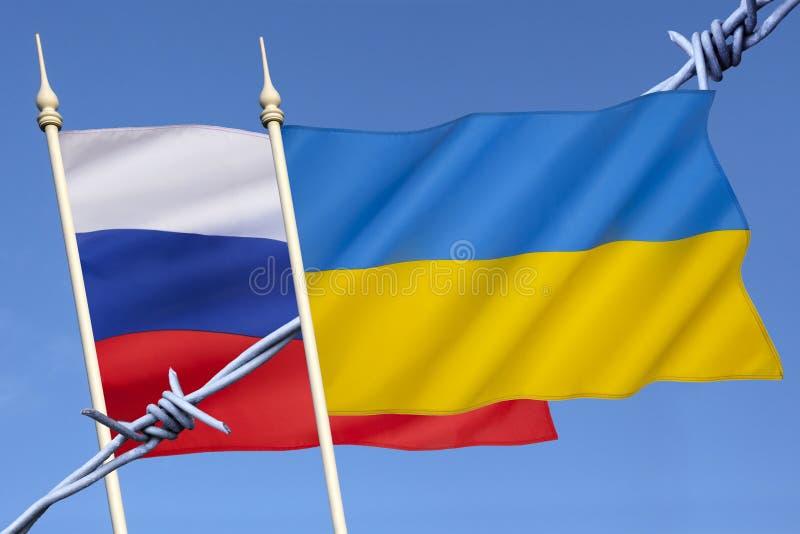 Конфликт России и Украины стоковое изображение rf