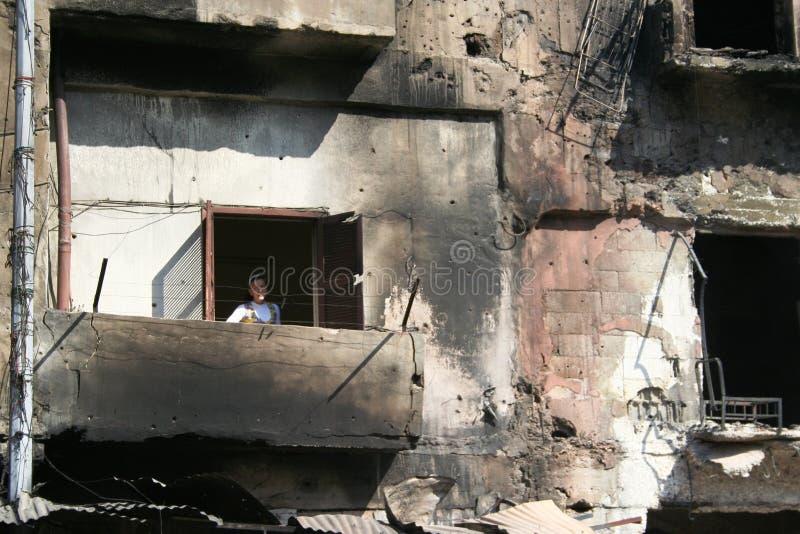 Конфликт Триполи Ливана стоковое фото rf