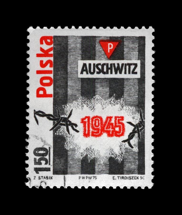 Концентрационный лагерь Освенцима, Польша стоковая фотография rf
