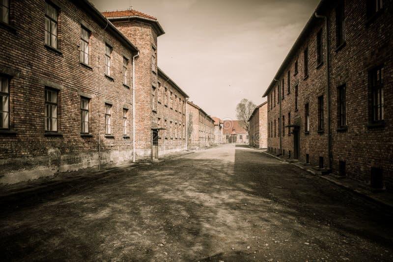 Концентрационный лагерь Освенцим i, Польша стоковая фотография