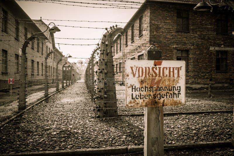 Концентрационный лагерь Освенцим i, Польша стоковое изображение rf