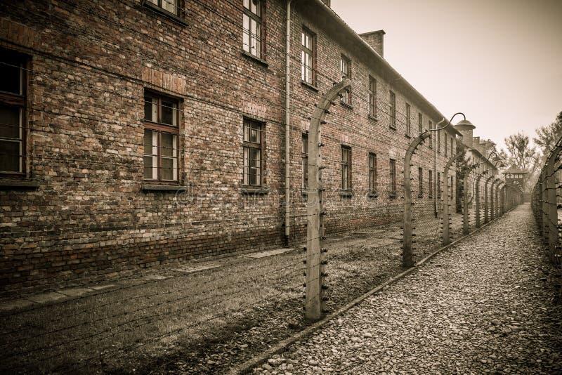 Концентрационный лагерь Освенцим i, Польша стоковое фото rf