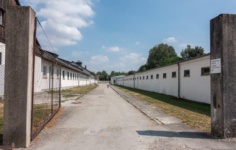 Концентрационный лагерь Dachau и мемориальное место, Мюнхен, Германия стоковое фото rf