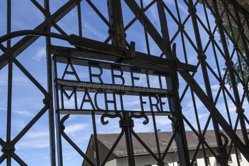 Концентрационный лагерь Dachau нацистский - Германия стоковая фотография