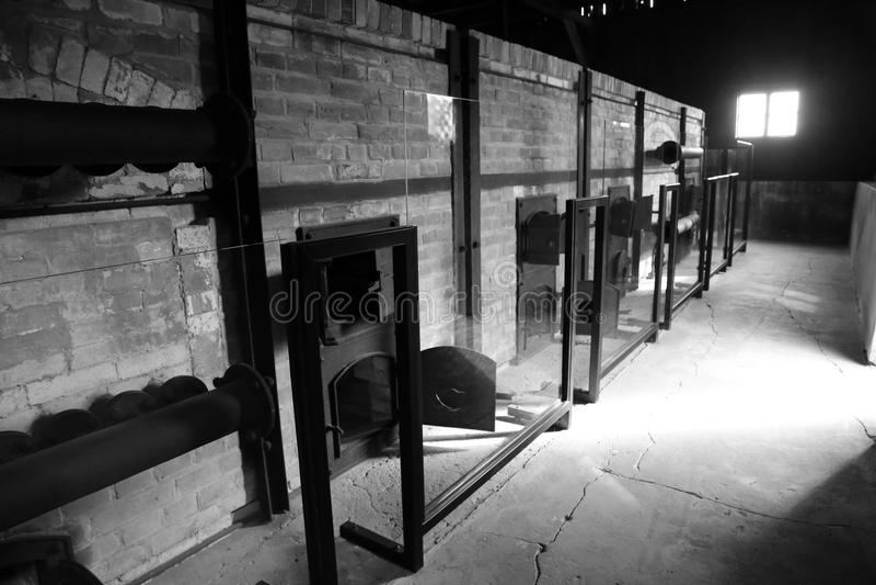 Концентрационный лагерь Majdanek в Люблине, Польше стоковое изображение rf