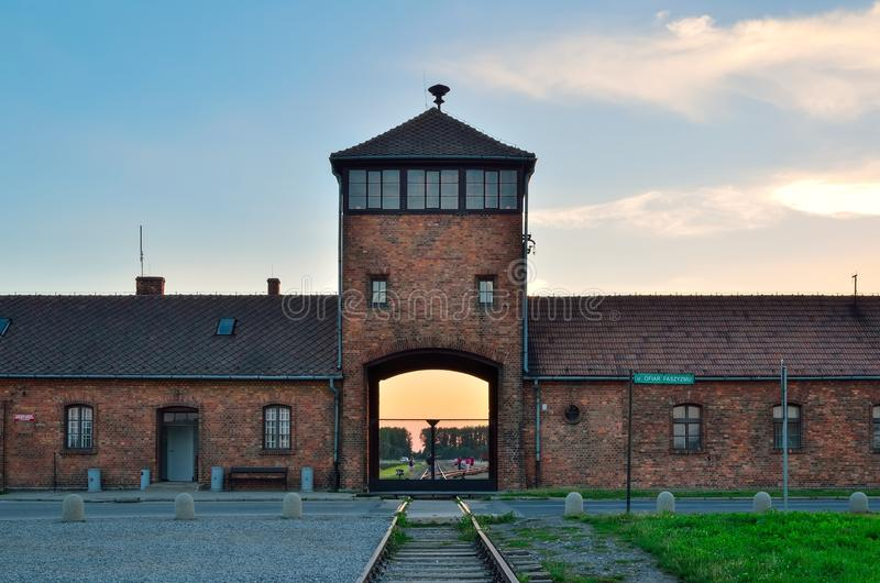 Концентрационный лагерь в Oswiecim, Польше стоковое фото rf