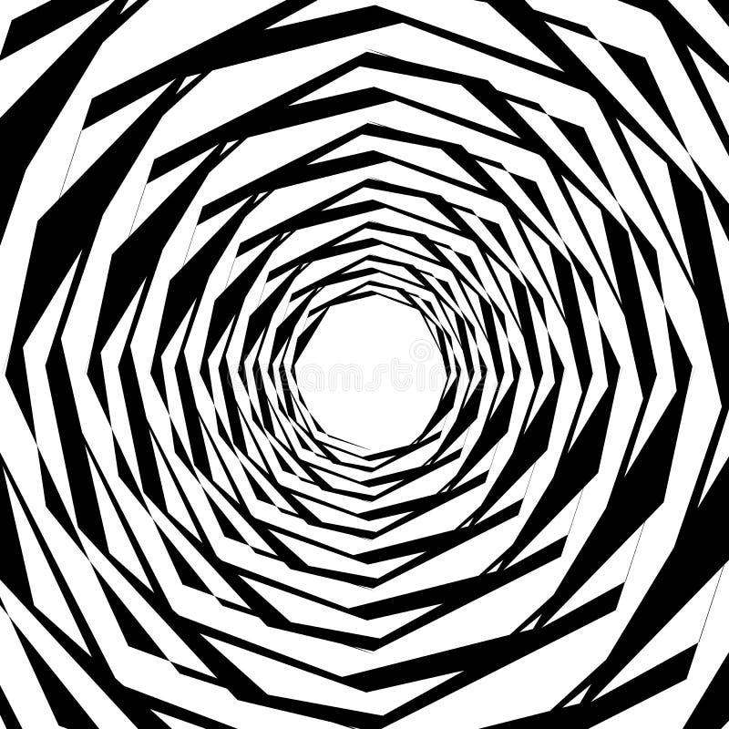 Download Концентрические геометрические шестиугольники/восьмиугольники Абстрактное PA Monochrome Иллюстрация вектора - иллюстрации насчитывающей восьмиугольники, клетчато: 81801747