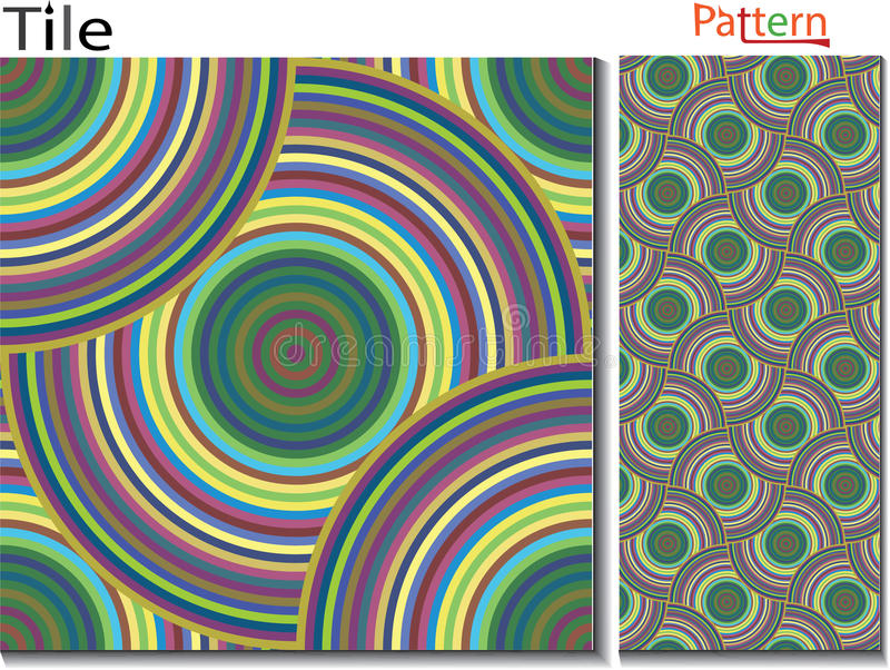 Концентрические кольца абстрактная предпосылка Вектор произведенный компьютером иллюстрация штока